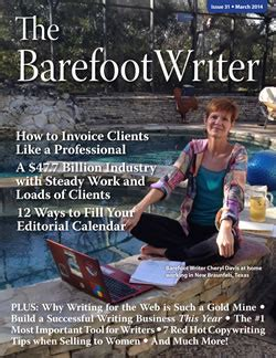 barefoot writer live the barefoot writer march issue