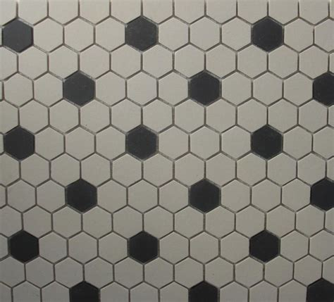 hexagon tile white black unglazed 1 inch mosaic old world from classic tile marble inc in
