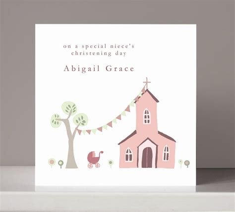 how to make a baptism card personalised christening card for or boy by molly moo