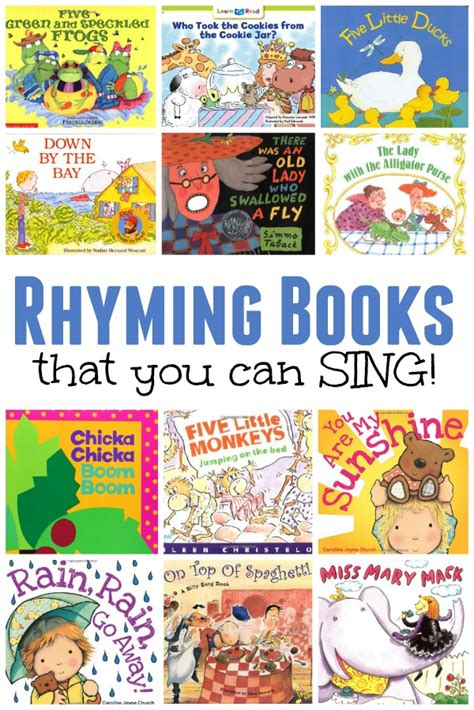 rhyming picture books 20 and free printables for learning rhyming words
