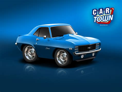 Car Town Wallpaper by 1969 Blue Car Town Camaro Wallpaper And Background Image