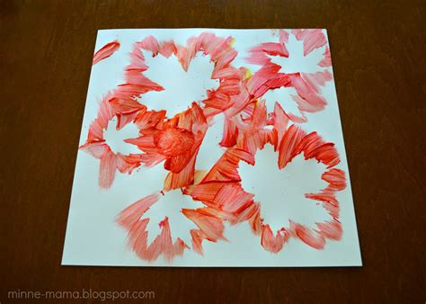 crafts for with paint minne fall leaf painting