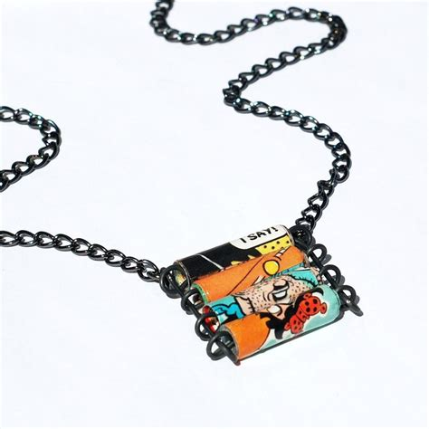 paper bead jewelry paper bead jewelry comic book necklace by tanith rohe on