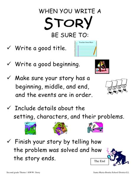 how to write a story book with pictures 2nd grade when you write a story theme 1