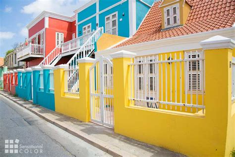 bright homes curacao colors brilliant pastels