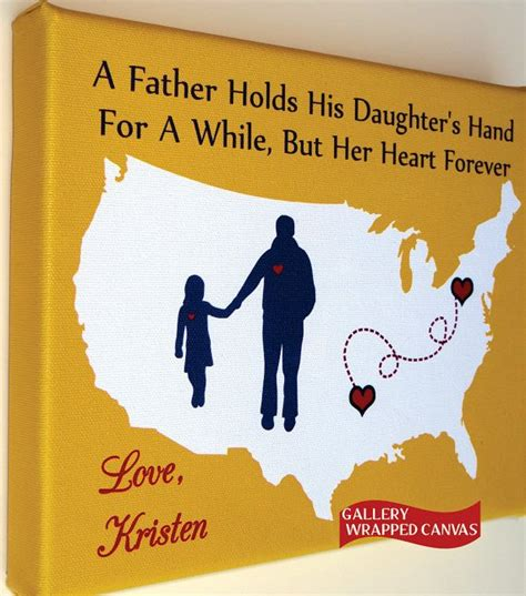 gifts for fathers from daughters canvas birthday gift for birthday from