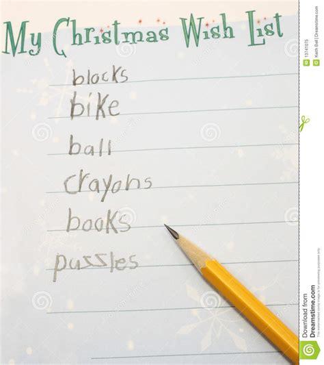 my list my wish list royalty free stock photo image