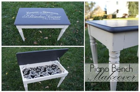 chalk paint bench ideas hometalk piano bench makeover