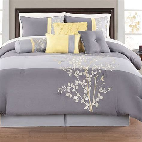grey bed comforter sets yellow and grey bedding sets orbnaouw bedroom
