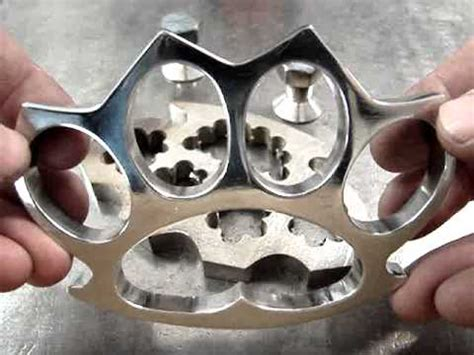 schlagring knuckle duster selfmade youtube