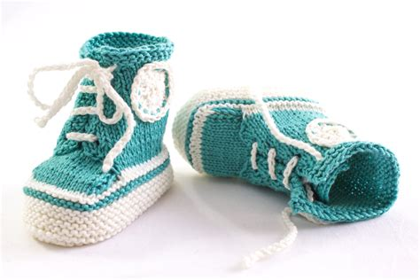 knitted converse baby booties pattern knitting pattern pdf knit sneaker booties patterntrainer