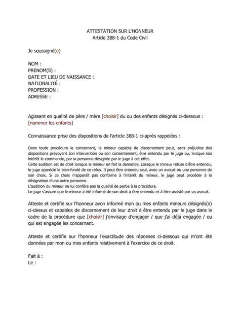 Modification Jugement Jaf by Modele Lettre Garde Altern 233 E Amiable Roger Bontemps