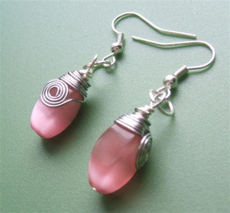 how to make ear wrap jewelry simple wire wrapped earrings step by step beading