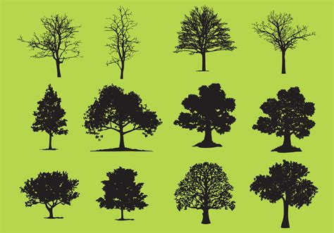 trees images free trees silhouette vectors free vector stock