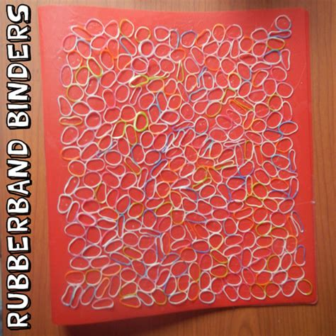 how to create a rubber st how to make rubberband decorated binders crafts