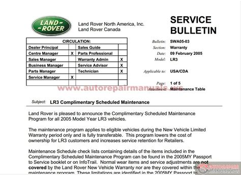 free service manuals online 2005 land rover lr3 spare parts catalogs land rover discovery3 lr3 workshop manual auto repair manual forum heavy equipment forums