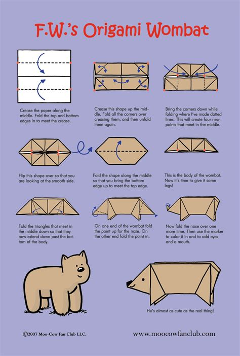make origami for make an origami wombat
