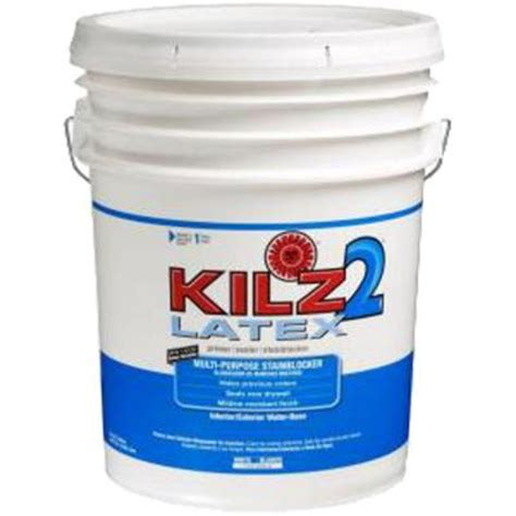 home depot paint no primer kilz 2 5 gal white primer and sealer 182405 the home depot
