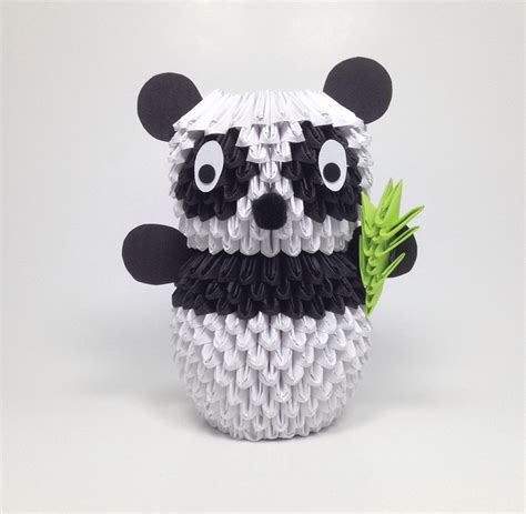 how to make 3d origami panda 3d origami panda 183 extract from 3d origami by