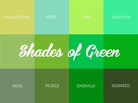 shaeds of understanding the different shades of green