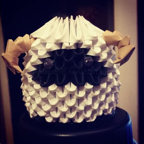 3d origami sheep 3d origami ffxiii sheep by inyeon on deviantart
