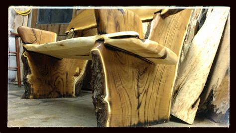 the of woodworking made live edge rustic bench crotch wood slabs by