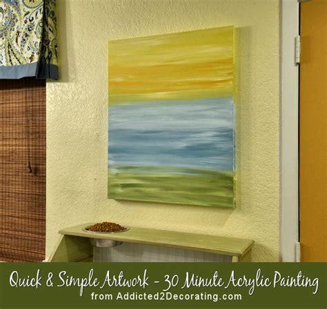acrylic painting diy diy easy artwork 30 minute acrylic painting