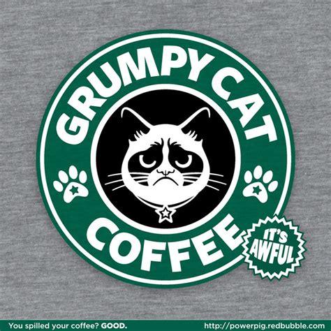 It's Awful, A Grumpy Cat Meets Starbucks T Shirt Design