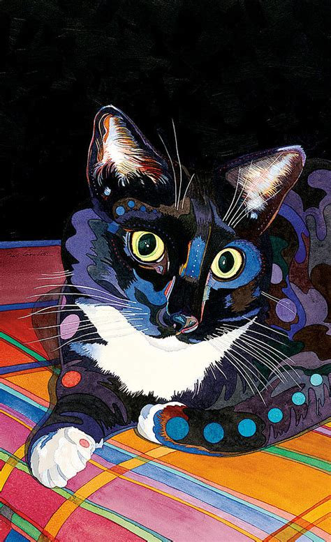 painting cat whiskers your whiskers painting by bob coonts