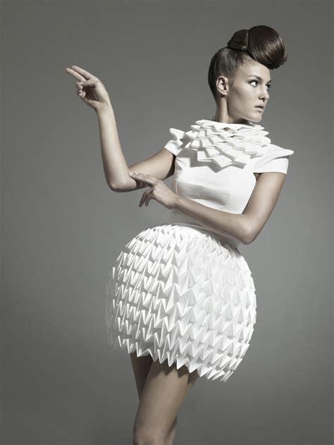 paper dress origami nintai origami inspired geometric dresses strictlypaper