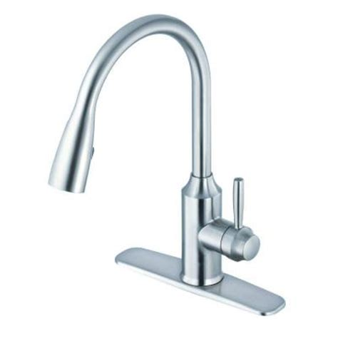 glacier bay pull kitchen faucet glacier bay invee single handle pull sprayer kitchen faucet with ceramic disc cartridge and