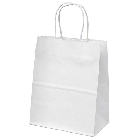 white paper craft bags white kraft paper bags merchandise shopping favor