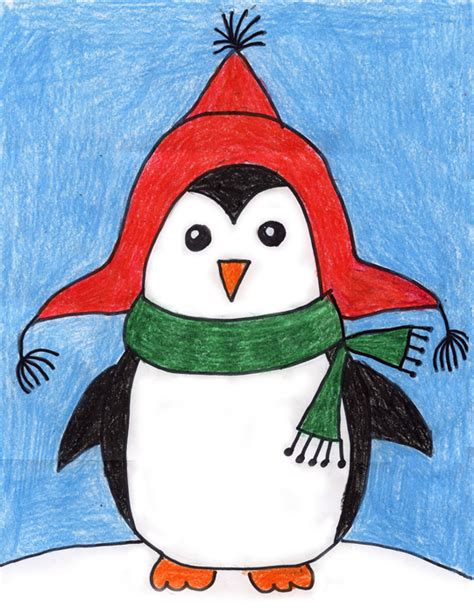 drawing crafts for penguin projects for