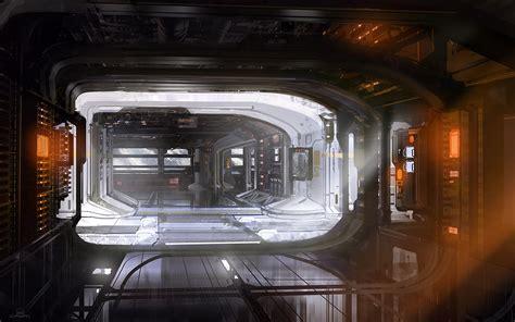 space station interior video games artwork