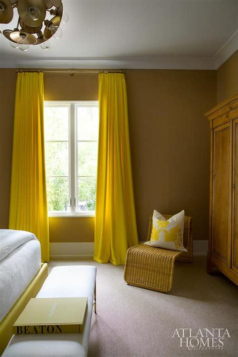 yellow bedrooms yellow bedroom curtains contemporary bedroom