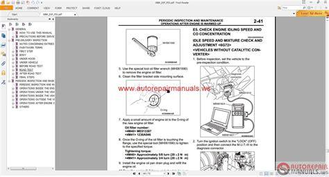 free online car repair manuals download 2008 mitsubishi eclipse windshield wipe control mitsubishi pajero ge 2008 service manual auto repair manual forum heavy equipment forums
