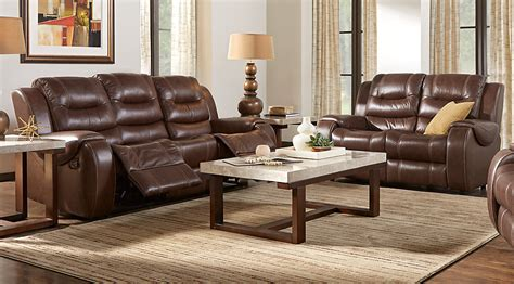 brown sofas in living rooms veneto brown leather 7 pc living room leather living