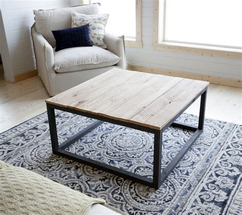 diy table white industrial style coffee table as seen on diy