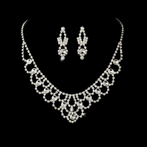 from jewelry swarovski bridal necklace and earring jewelry set