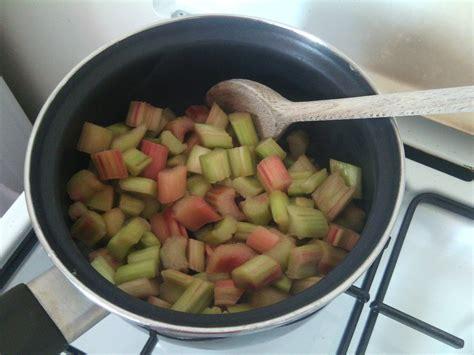 tarte 224 la rhubarbe et compote de pommes les petits plats de manon