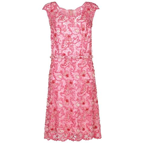 pink beaded dress 1960s norman hartnell pink beaded dress owned by dame