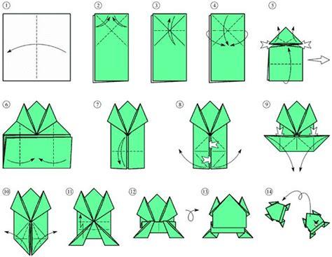 rana origami il schema origami la rana origami istruzioni origami
