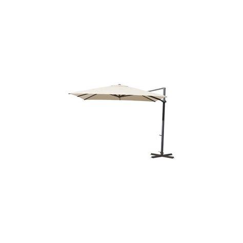 parasol d 233 port 233 carr 233 260x260cm inclinable et orientable riviera 201 cru plantes et jardins