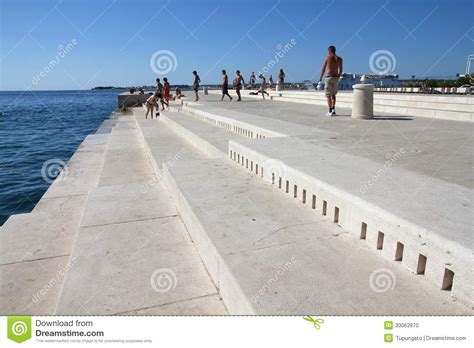 sea organ croatia zadar sea organ editorial image image 30063970