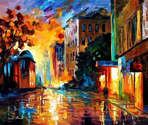 paint nite uk leonid afremov on canvas palette knife buy original
