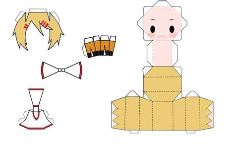 anime paper craft anime papercraft chibi finny papercraft by