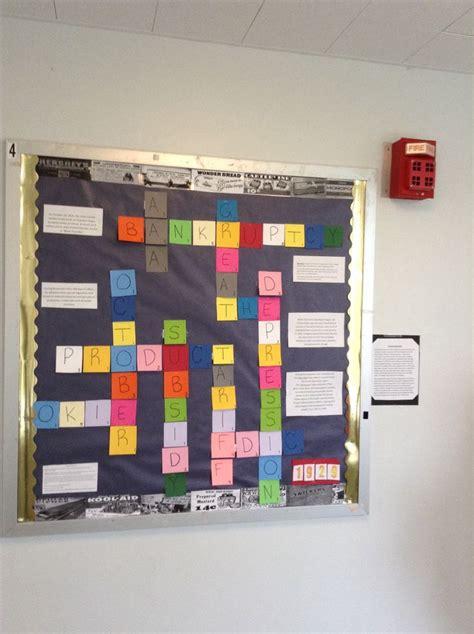 interactive scrabble board the great depression interactive bulletin board idea a