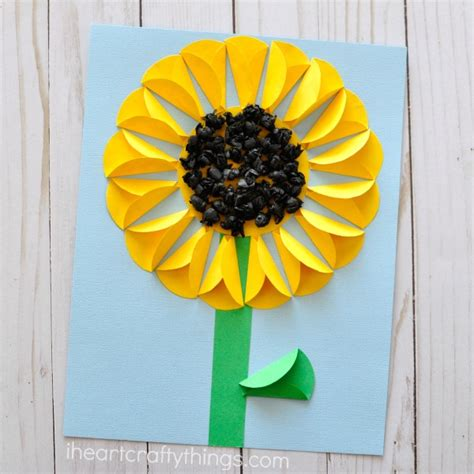 sunflower crafts for folded paper sunflower craft i crafty things