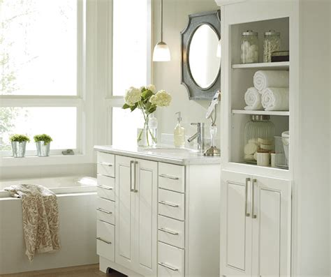 Bathroom White Cabinets by White Bathroom Cabinets Kemper Cabinetry