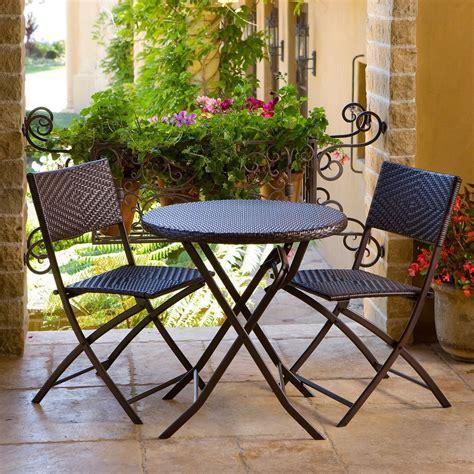 bistro set patio furniture 3 outdoor bistro patio furniture set in espresso